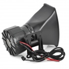 DIY Alarm Car Motorcycle 100W 5-Tone Megaphone Speaker Set - Black