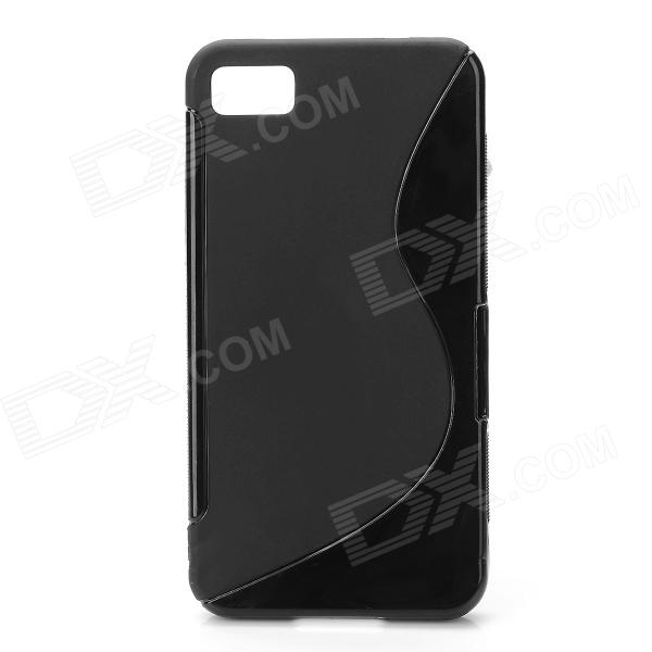 Stylish Protective Soft Silicone Back Case for BlackBerry Z10 - Black stylish bubble pattern protective silicone abs back case front frame case for iphone 4 4s