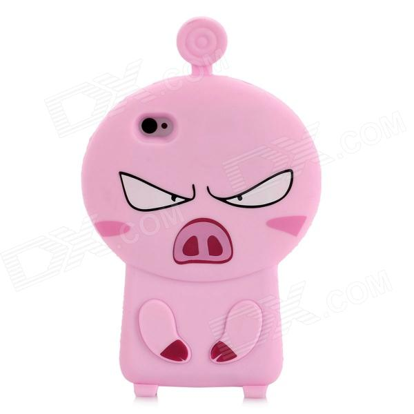 3D Cartoon Pig Style Protective Silicone Case for Iphone 4S / Iphone 4 - Pink protective cartoon silicone back case for iphone 4 4s red white