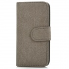 Simple Protective PU Leather Case for Iphone 5 - Grey