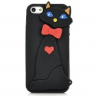 Civet Cat Style Protective Silicone Back Case for Iphone 5 - Black