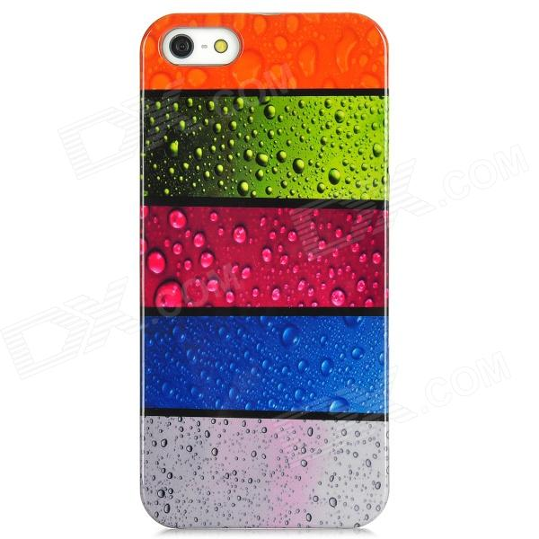 Water Drop Style Protective Plastic Back Case for Iphone 5 - Multicolor water drop embossed pattern style protective abs back case for iphone 5 green purple