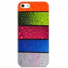 Water Drop Style Protective Plastic Back Case for Iphone 5 - Multicolor