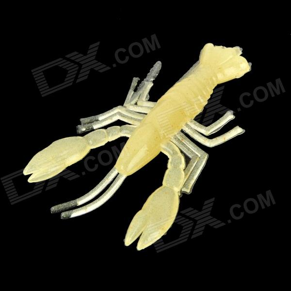 Fishy flavor shrimp style soft plastic glow in the dark for Glow in the dark fishing lures