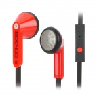 BIDENUO Z290i Stylish Stereo Earphone - Black + Red (3.5MM Plug)