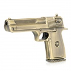 Gun Shape USB 2.0 Steel + Cooper Plated Flash Driver - Bronze (4GB)