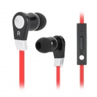 LANGSTON JV-02 Stylish In-Ear Stereo Earphone - Red + Black + Silver (3.5MM Plug)
