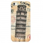 Leaning Tower of Pisa Style Protective Plastic Back Case for iPhone 5 - Yellow + Grey