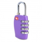 JUST LOCK TSA330 Zinc Alloy Travel Coded Lock - Purple