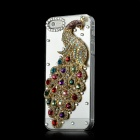 Colorful Peafowl Style CrystalProtective Plastic Back Case for Iphone 5 - Multicolor