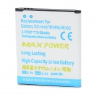 Replacement 2100mAh Li-ion Battery for Samsung Galaxy S3 Mini i8190 i8160 - White + Blue