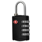 JUST LOCK TSA302 Zinc Alloy Travel Coded Lock - Black