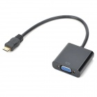 Mini HDMI to VGA Female Video Converter Cable - Black (18cm)
