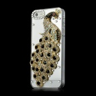 Stylish Peafowl Style Imitation Diamond Protective Plastic Back Case for iPhone 5 - Golden + Black