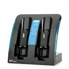 GTcoupe JM-134U Dual Connection Blue Light Charger Stand for Wii - Black