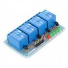 FC-16-G 4-Channel 9V Low Level Trigger Relay Module - Blue
