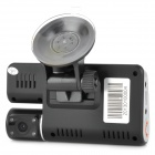 "SP-801A 3,0 ""TFT 1.3MP Car DVR w / 4-IR LED / Externe Kamera - Schwarz"