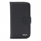 MLT 01389 Protective PU Leather Cover Case w/ Card Slots for Samsung i8190 Galaxy S3 Mini - Black