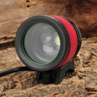 SingFire SF-540 950lm 4-Mode Zooming White Bicycle Headlamp w/ Cree XM-L T6 - Black + Red (4x18650)