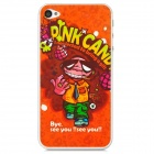 Protective Cartoon Style Clear Screen Protectors for Iphone 4 / 4S - Orange