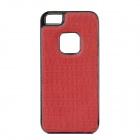 BASEUS TRAPIPH5-09 Protective PU Leather Back Case for iPhone 5 - Red + Black