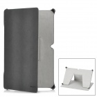ROCK Protective PU Leather Case for Micro Surface - Black Grey