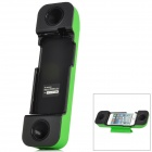 001 Professionelle Handset Speaker Amplifier w / Stander für iPhone 5 - Grün + Schwarz