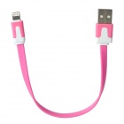 USB Male to 8 Pin Lightning Data / Charging Flat Cable for iPhone 5 + iPad 4 - Pink (20CM)