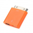 30 Pin to Micro USB + Mini USB Adapter for iPhone 4 / 4S - Orange