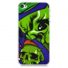 Protective Skull Pattern Clear Screen Protectors for Iphone 4 / 4S - Green