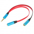 3.5mm Male to 2 Female Music Share Audio Splitter Cable for Iphone - Blue + Red + Black