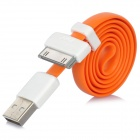 VOJO iMagnet USB Male to 30 Pin Male Flat Data Cable for iPhone 4S + More - Orange (55cm)