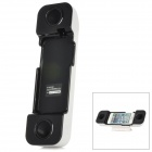 001 Professionelle Handset Speaker Amplifier w / Stander für iPhone 5 - White + Black