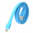 I1302 USB Stecker auf 8 Pin Lightning Flat Datenkabel für iPhone 5 - Blue