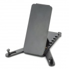 Portable Mini Folding Plastic Holder for Iphone 5 + Ipad 4 + More - Black