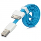 VOJO Basic USB Male to 30 Pin Male Flat Data Cable for iPhone 4S + More - Blue (55cm)