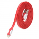 USB Male to 8 Pin Lightning Charging / Data Cable for iPhone 5 + iPad 4 - Red + White