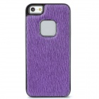 BASEUS TRAPIPH5-05 Marten Pattern PU Leather Back Case for Iphone 5 - Purple + Black