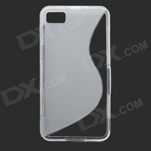 S-Line Style Protective Silicone Soft Back Case for BlackBerry Z10 - Transparent