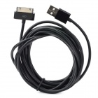 USB Male to 30 Pin Charging / Data Cable for iPhone 4S - Black (3M)