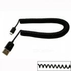 Universal Spring Style USB to Micro USB Data & Charging Cable for Samsung / HTC - Black (3m)