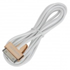 BASEUS CAAPMFI-01 USB 2.0 to Apple 30Pin Charging & Data Cable for iPhone / iPad - Coppery + White