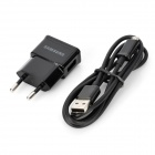 Genuine Samsung EU Plug Charger + Micro USB Cable for N7100 / i9300 /  i9220 / i8190 - Black