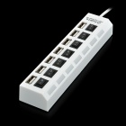 USB 2.0 7-Port HUB Switch w / Individual - Branco