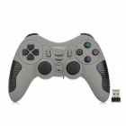 FV-W520D 2.4G Wireless DualShock Game Joypad Controller for PS3 / PC - Grey + Black