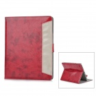 ENKAY ENK-3120 Protective Fashion PU Leather Case for Ipad - Deep Red