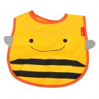 Cute Honey Bee Pattern Baby Water-Resistant Saliva Towel - Yellow + Black
