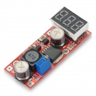 LM2596 DC-DC 3-Digit Voltage Regulated Power Supply Module w/ Voltage Meter Display - Red