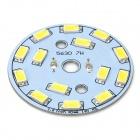 40mm 7W 735lm 6497K 14-SMD 5630 LED White Light Bulb Aluminum Plate - Yellow + White