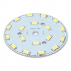 60mm 9W 945lm 6497K 18-SMD 5630 LED White Light Bulb Aluminum Plate - Yellow + White